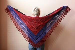 Jenny's Faith made with Indieway yarn. Check her out on etsy. Most beautiful dyed colors...