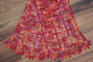 Sea Silk scarf made for Swap. Pattern - Andante Scarf by Melinda Miller / Yarn Handmaiden Fine Yarn Sea Silk.
